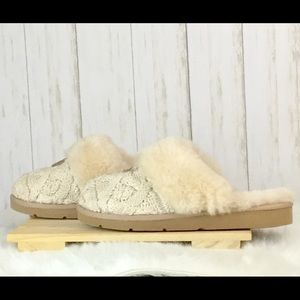 7dae5fb0f3a UGG Shoes - 💠UGG Cozy Knit Cable Slippers with Sheepskin💠